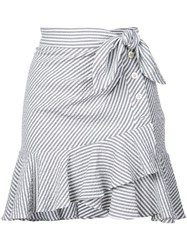 Veronica Beard Knotted Skirt Grey
