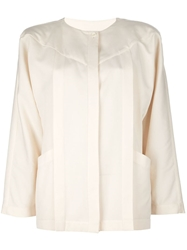 Basile Vintage Straight Jacket Nude And Neutrals