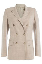 Max Mara Virgin Wool Blazer Beige