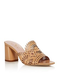 Kate Spade New York Delgado Cutout Slide High Heel Sandals Cashew