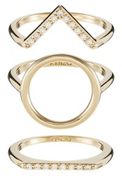 Kenzo Sand Ring Goldcoloured