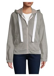Stateside Linen Blend Zip Up Hoodie Heather Grey