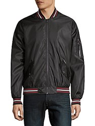 Members Only Twill Bomber Jacket Black