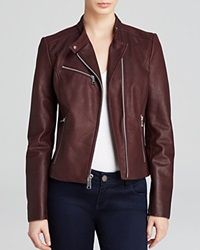 Andrew Marc New York Andrew Marc Casey Structured Moto Leather Jacket Nightshade