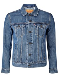 Levi's The Trucker Denim Jacket Medium Stone Wash