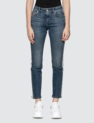 Alexander Mcqueen Side Piped Skinny Jeans Blue