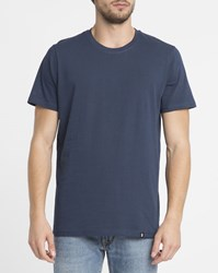 Roscoe Navy Ted Round Neck T Shirt Blue