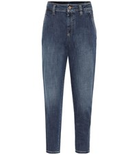 Brunello Cucinelli High Rise Skinny Jeans Blue