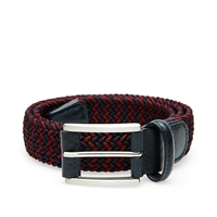 Andersons Anderson's Woven Textile Belt Burgundy And Navy