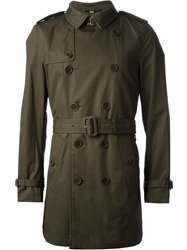 Burberry Brit Classic Trench Coat Green