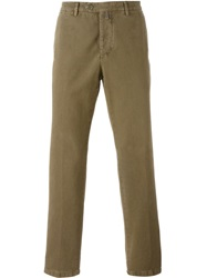 Kiton Slim Washed Chinos Nude And Neutrals