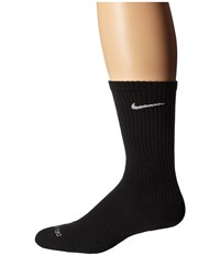 Nike Dri Fit Cushion Crew 3 Pair Pack Black White Women's Crew Cut Socks Shoes