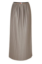 Msgm Faux Leather Pleated Maxi Skirt