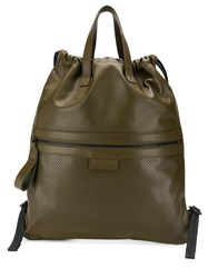 Bottega Veneta Flat Tote Backpack Green