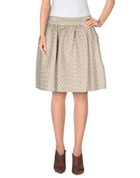 Marc By Marc Jacobs Mini Skirts Beige