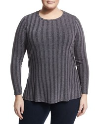 Bobeau Alexa Ribbed Knit Top Charcoal