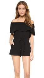 Ella Moss Stella Off Shoulder Romper Black