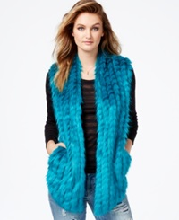 Guess Faux Fur Contrast Panel Vest