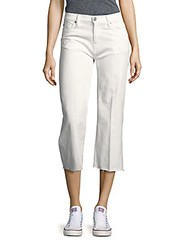 Hudson Flared Five Pocket Cropped Pants White