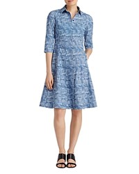 Lafayette 148 New York Cami Crosshatch Shirt Dress Luna Multi