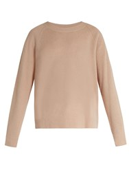 Vince Loose Fit Cashmere And Linen Blend Sweater Light Pink