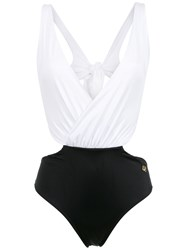 Brigitte Luna Cut Out Swimsuit White