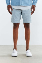 Cpo Glover Vertical Stripe Seersucker Linen Short Blue
