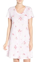 Carole Hochman Women's Print Cotton Sleep Shirt Satin Blossoms