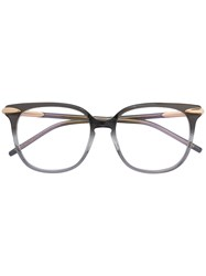 Pomellato Clear Frame Glasses Acetate Metal Grey
