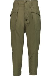 Nlst Cotton Twill Tapered Pants Army Green