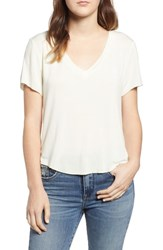 Ten Sixty Sherman Meet And Greet V Neck Tee Ivory