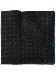 Hackett Checked Pocket Square Blue