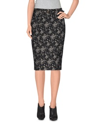 Patrizia Pepe Knee Length Skirts Black