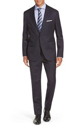 Men's Big And Tall Boss 'Johnstons Lennon' Trim Fit Wool Suit Navy