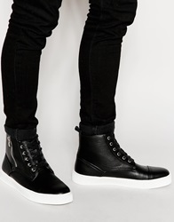 Asos Lace Up Boots In Black With Chunky Sole