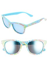 Lilly Pulitzerr Women's Pulitzer Maddie 52Mm Polarized Mirrored Sunglasses Blue