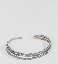 Serge Denimes Feather Bangle In Solid Silver