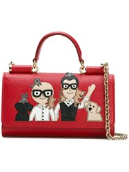 Dolce And Gabbana Mini 'Von' Wallet Crossbody Bag Red