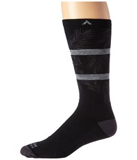 Wigwam Makua Valley Pro Black Men's Crew Cut Socks Shoes