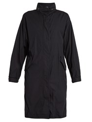 Vince Drawstring Hem Cotton Coat Black
