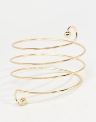 Love Rocks Spiral Arm Cuff Gold