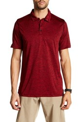 Burnside Heather Performance Polo Red