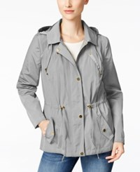 Charter Club Water Resistant Hooded Anorak Jacket Only At Macy's Mineral Ice