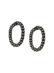 Rachel Comey Hematite Hoop Earrings 60