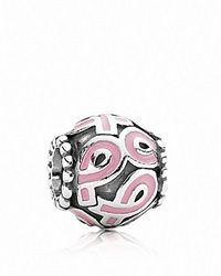 Pandora Design Pandora Charm Sterling Silver And Enamel Pink Ribbon Moments Collection Silver Pink