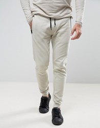 D Struct Ribbed Jersey Jogger Trousers Grey Stone