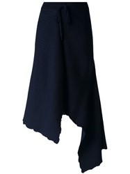 Marques Almeida Marques'almeida Draped Knit Skirt Blue