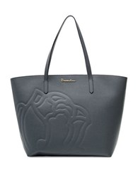 Braccialini Ninfea Leather Shopper Tote Bag Grey