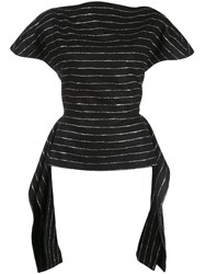 Christian Siriano Striped Fitted T Shirt 60
