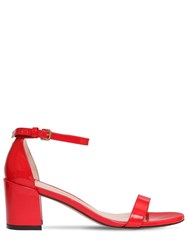 Stuart Weitzman 55Mm Simple Patent Leather Sandals Red